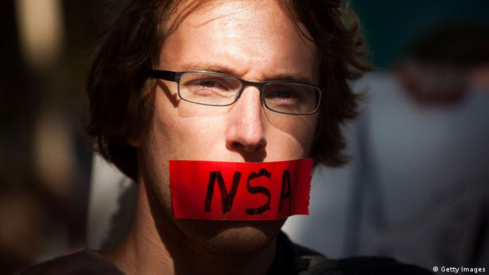 Protest in US against NSA