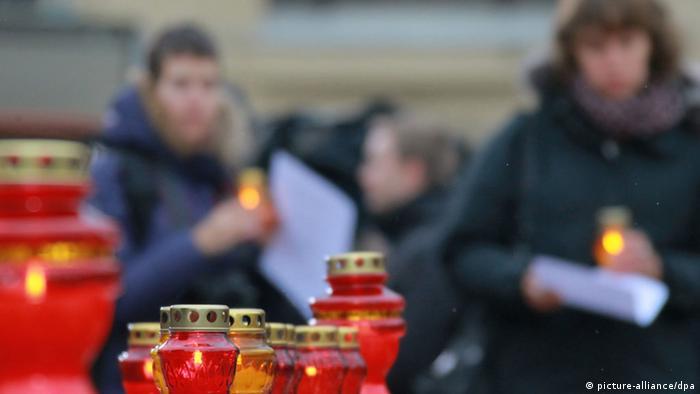 Свечи в память о жервах сталинского террора