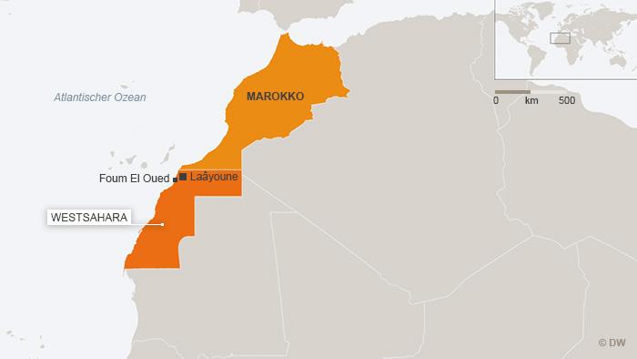 Karte von Marokko und Westsahara