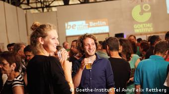 Auftakt der Berlin Dayz in Tel Aviv auf dem Platz vor dem Habima-Theater (Foto: Goethe-Institut Tel Aviv/Felix Rettberg)
