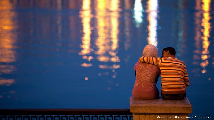 afrikanisches Liebespaar am Nil