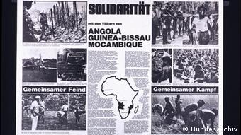 Solidarität mit den Völkern von Angola Guinea-Bissau und Mocambique