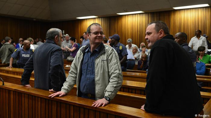 Right-wingers being tried in court for a plot to murder Neslson Mandela - 29.11.2013 (Reuters)