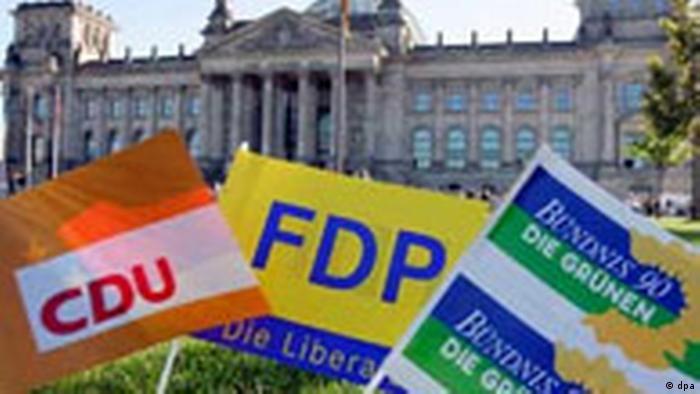 Koalitionsroulette nach der Bundestagswahl - Schwarz Gelb Grün (dpa)