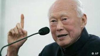 Lee Kuan Yew, Singapurs früherer Staatschef und Gründungsvater