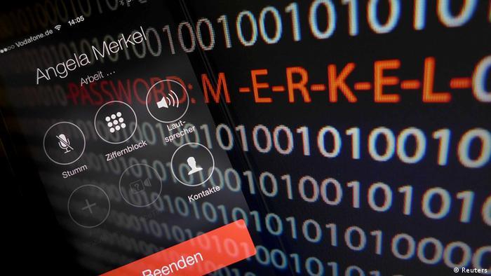 Symbolbild NSA Spionage Merkel Handy Deutschland