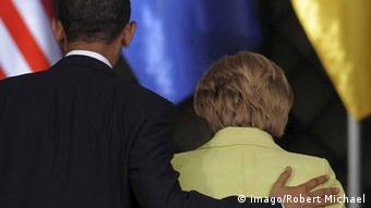 Obama and Merkel, from behind Copyright: imago/Robert Michael