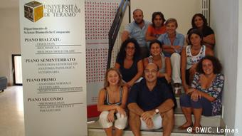 Pasquelino Loi (bottom row, center) with his team of scientists from Teramo University