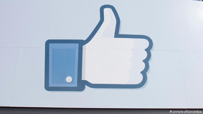 A thumbs up sign from the Facebook company