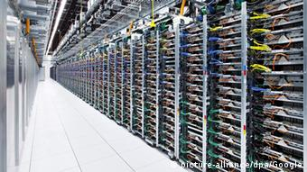Rows of Google servers located in Pryor, Oklahoma EPA/GOOGLE HANDOUT
