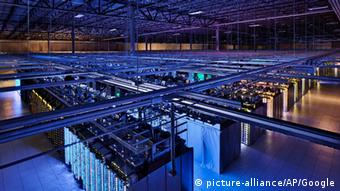 This undated photo provided by Google shows a Google data center in Hamina, Finland. The Washington Post is reporting Wednesday, Oct. 30, 2013, that the National Security Agency has secretly broken into the main communications links that connect Yahoo and Google data centers around the world. The Post cites documents obtained from former NSA contractor Edward Snowden and interviews with officials. (AP Photo/Google)