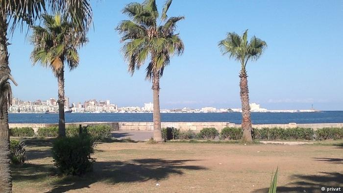 View across the sea towards Alexandria