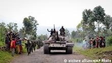 Kongo Rugare Einmarsch der Armee Jubel Bewohner