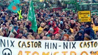 CASTOR DEMONSTRANTEN DEU ATOM GORLEBEN PROTEST p178