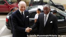Der französische Außenminister Laurent Fabius in Angola