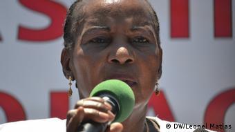 Demonstration gegen Entführungen und Krieg in Maputo (DW/Leonel Matias)