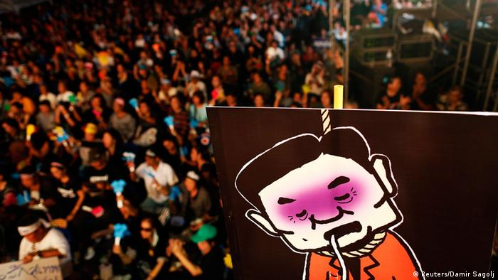Thailand - Protest gegen Amnestiegesetz für politisch Verfolgte