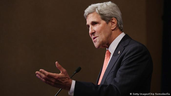 WASHINGTON, DC - OCTOBER 24: U.S. Secretary of State John Kerry addresses a conference commemorating the 10th anniversary of the Center for American Progress in the Astor Ballroom of the St. Regis Hotel October 24, 2013 in Washington, DC. Co-founded by former Clinton Administration Chief of Staff John Podesta, the liberal public policy research and advocacy organization is a think tank that rivals conservative policy groups, such as the Heritage Foundation and the American Enterprise Institute. (Photo by Chip Somodevilla/Getty Images)