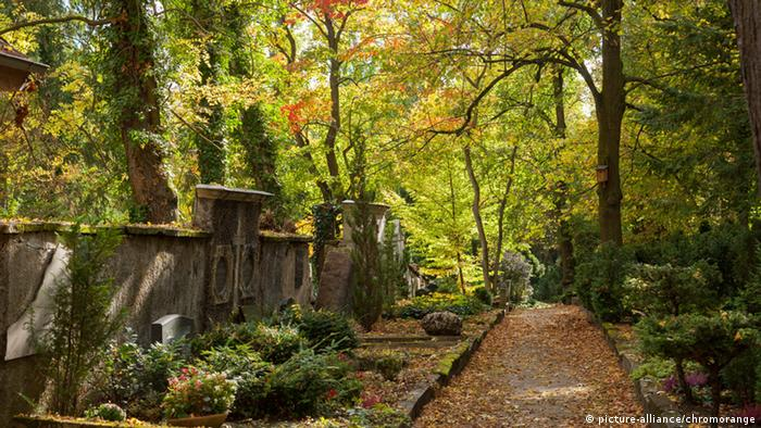 Der alte historische Friedhof in Weimar
