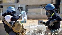 Seit Jahren untersuchen UN-Mitarbeiter den Gebrauch von Chemiewaffen in Syrien (Archivbild)