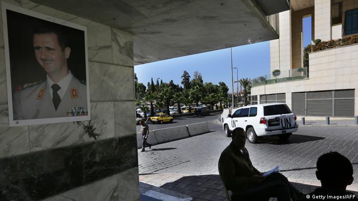 Chemiewaffen Inspektoren in Syrien (Foto: LOUAI BESHARA/AFP/Getty Images)