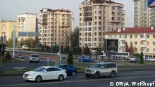 Thema Preiserhöhung in Kasachstan. Alle Rechte gehören DW Korrespondent Anatoly Weißkopf und wurden freigegeben. Zulieferer: Daniela Posdnjakova Eine Straße in Almaty, Kasachstan, November 2013