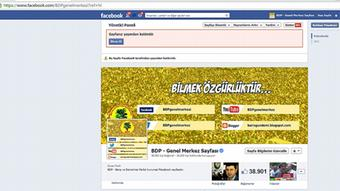 Screenshot of the Facebook page of the Kurdish Freedom and democracy party, the BDP