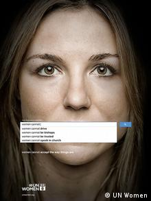 UN Women ad campaign against Sexism- AutoComplete features with search engines