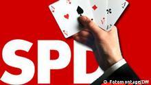 Symbolbild Koalition SPD CDU Pokerhand