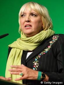 Claudia Roth's hairstyle and her dress sense hasn't gone down well with the AfD