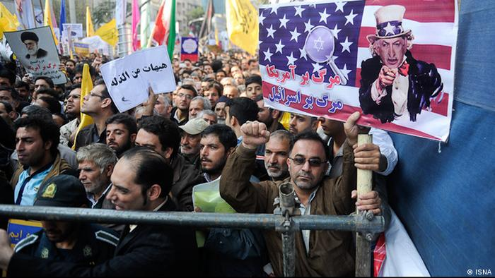 Anti-American demonstration in Tehran on November 4, 2013