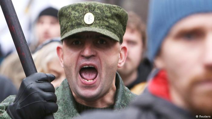 Russischer Marsch der Ultranationalisten in Moskau am 04.11.2013 (Foto: REUTERS/Sergei Karpukhin)