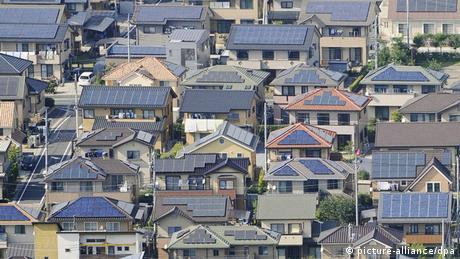 Wohnsiedlung mit Solarenergie in Japan