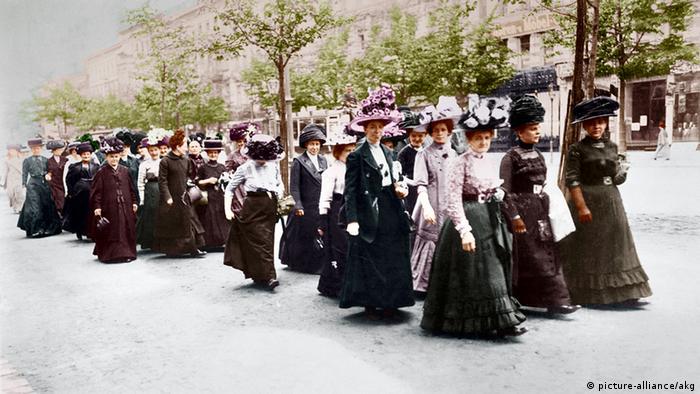 Демонстрация женщин в Берлине. 1912 год