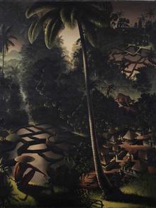 Blick von Der Höhe (A View from the Heights) by Walter Spies, 1934. Oil on canvas, 100.5 x 82.5 cm. Datum 1934 Quelle Sotheby's Urheber Walter Spies (1895 – 1942)