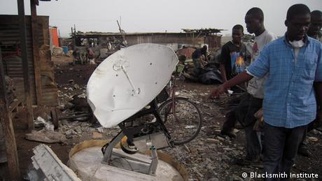 Electronic junk in Ghana (Photo: Blacksmith Institute)