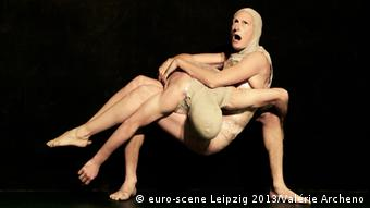 Two dancers in a 2013 rendition of The Rite of Spring (euro-scene Leipzig 2013/Valérie Archeno)