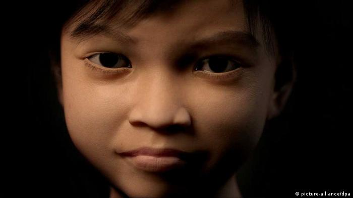 An undated computer generated image made availbale by Terres des Hommes Netherlands shows virtual character 'Sweetie' designed as the face of a ten-year-old Philippino girl. Photo: EPA/TERRES DES HOMMES / HANDOUT +++(c) dpa - Bildfunk+++