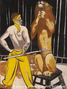 Gouache-Arbeit «Löwenbändiger» von Max Beckmann