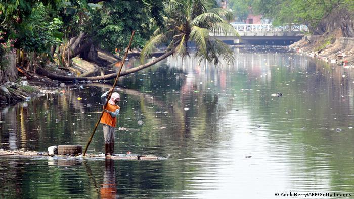 Fluss Citarum in Indonesien