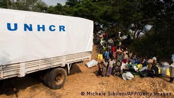 Der UnHCR versorgt Flüchtlinge aus dem Kongo (Foto: MICHELE SIBILONI/AFP/Getty Images)