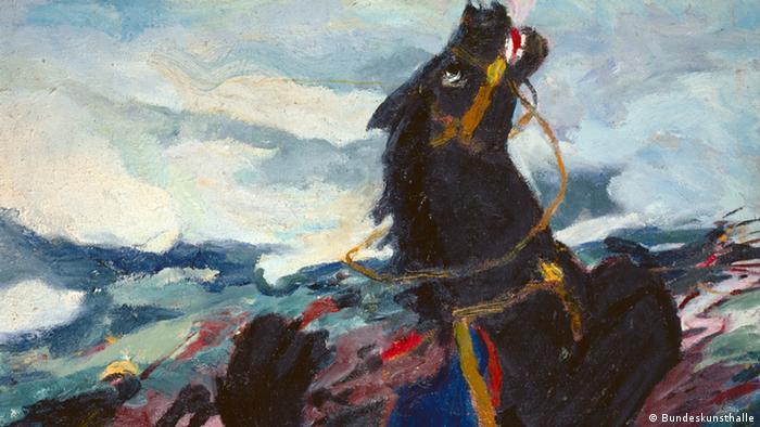 Campo de batalla (1913), de Emil Nolde, pintor perteneciente al Partido Nazi, que sin embargo, estaba en su lista negra.