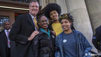 Bill de Blasio und Familie/ New York