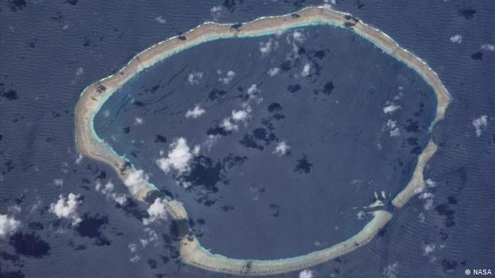 NASA Bild der Carteret Inseln