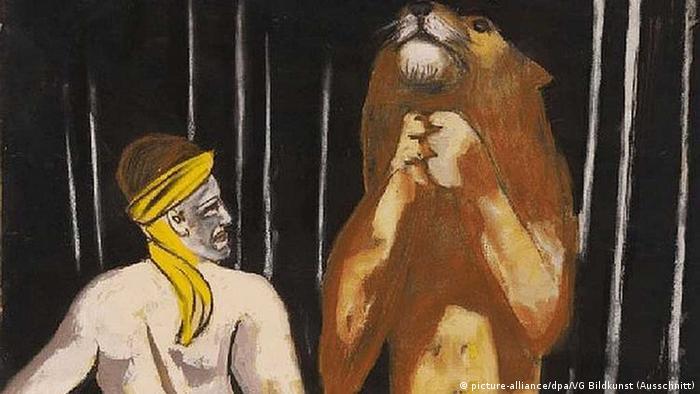 Gouache-Arbeit «Löwenbändiger» von Max Beckmann, ein Ausschnitt +++(c) dpa - Bildfunk+++