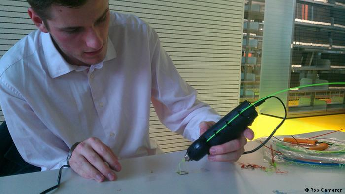 David Paskevic, an electronics student in Prague, is developing Europe's first 3D pen. (Photo: Rob Cameron)