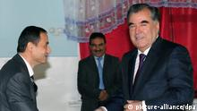 epa03938086 A handout picture provided by the President's Press Service shows Tajik President Emomali Rakhmon casting his vote at a polling station during the presidential elections, in Dushanbe, Tajikistan, 06 November 2013. Tajiks voting in elections were expected to confirm incumbent Emomali Rahmon as president, in the absence of any effective opposition. EPA/PRESIDENT'S PRESS SERVICE / HANDOUT HANDOUT EDITORIAL USE ONLY