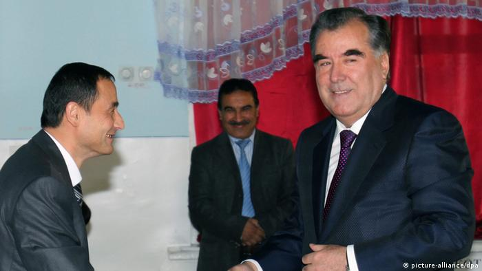 A handout picture provided by the President's Press Service shows Tajik President Emomali Rakhmon casting his vote at a polling station during the presidential elections, in Dushanbe, Tajikistan, 06 November (Photo: EPA/ PRESIDENT'S PRESS SERVICE / HANDOUT)