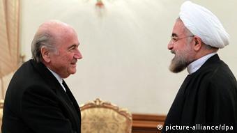 FIFA-Präsident Sepp Blatter besuchte 2013 den Iran. (Foto: EPA)