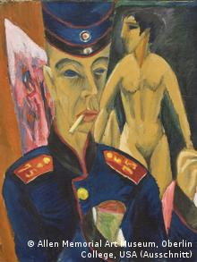 Эрнст Людвиг Кирхнер. Автопортрет в солдатской форме. 1915 год